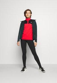 The North Face - GLACIER SNAP NECK - Fleece jumper - horizon red/black - 1