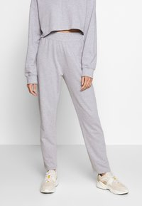 Missguided - ZIP FRONT CROPPED  SLIM LINE SET - Tracksuit - grey - 4