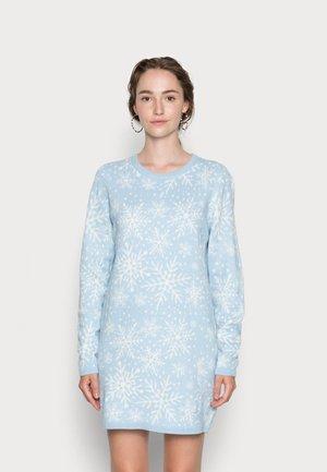 JDYMIKA JACQUARD DRESS  - Jumper dress - light blue