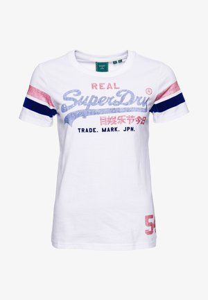 VINTAGE LOGO VARSITY - Print T-shirt - optic