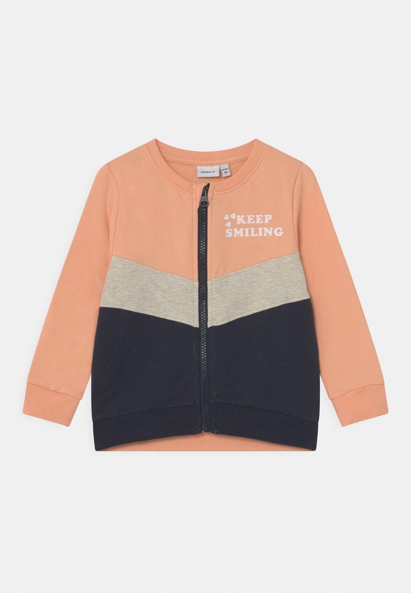 Name it - NMFLORI CARD  - Zip-up sweatshirt - dark sapphire