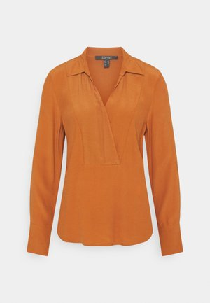 BLOUSE - Blouse - rust brown