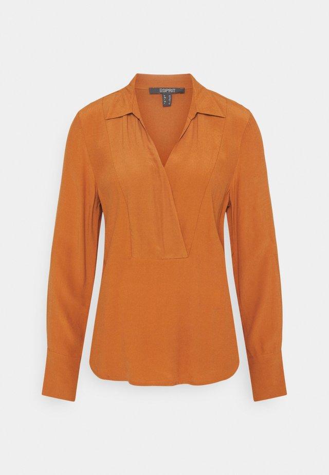 BLOUSE - Long sleeved top - rust brown