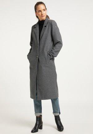 Wollmantel/klassischer Mantel - grau melange