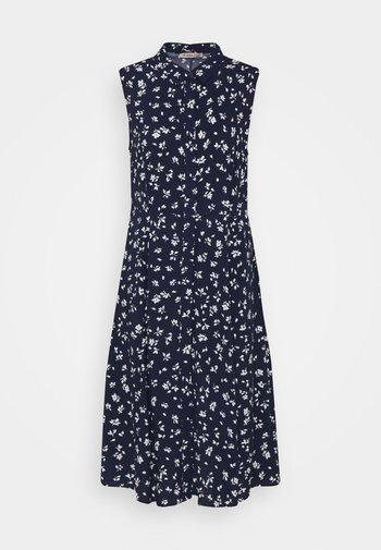 Vestido camisero - blue/white