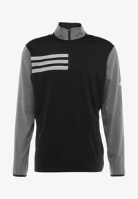 adidas Golf - 3 STRIPES COMPETITION 1/4 ZIP - Långärmad tröja - black heather/black - 3