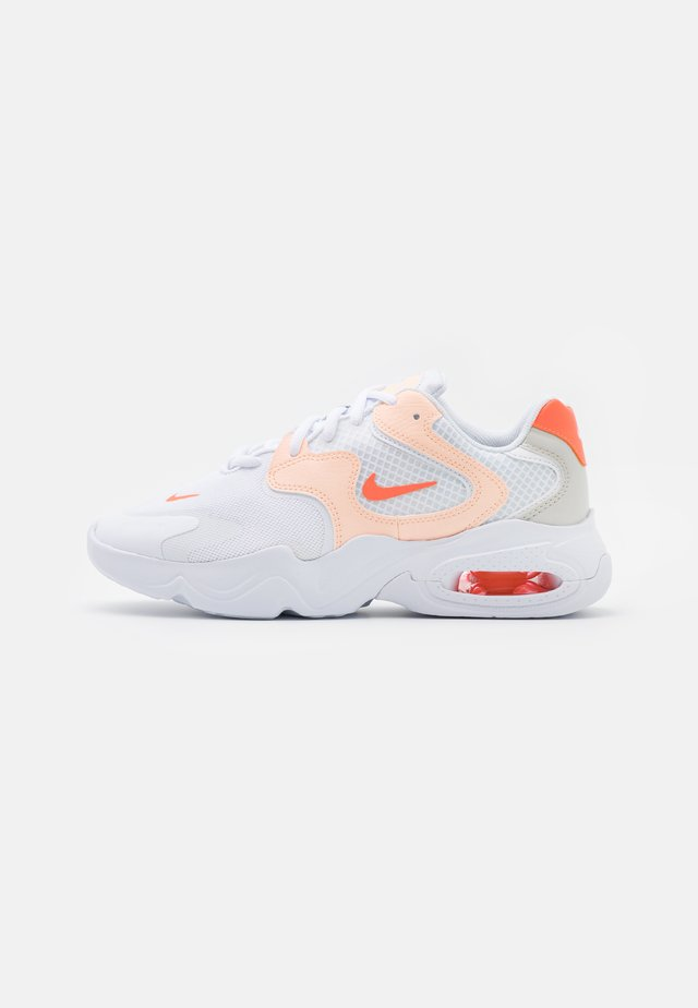 AIR MAX 2X - Sneakers - white/bright mango/crimson tint