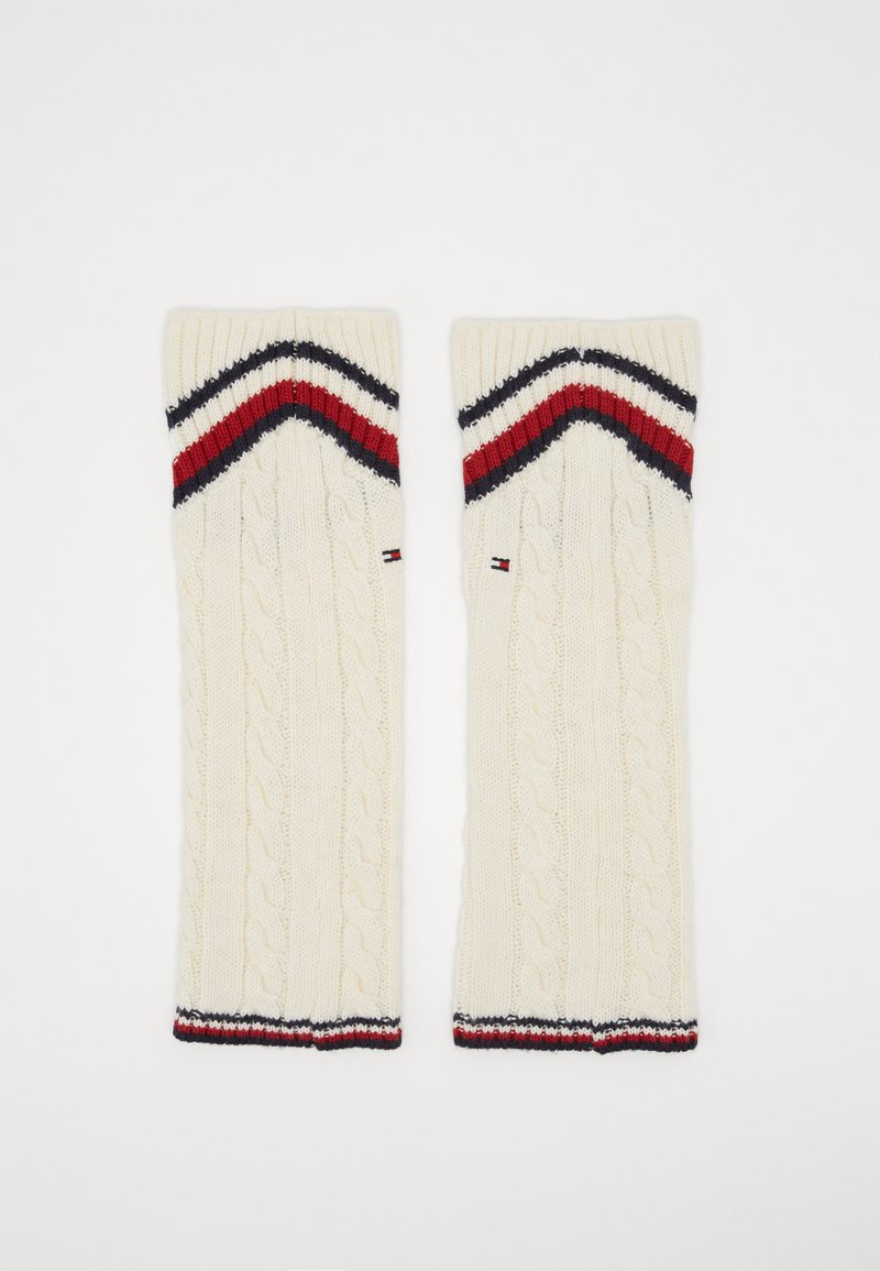 Tommy Hilfiger - LEG WARMERS CABLE - Leg warmers - off white