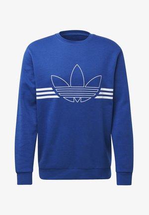 OUTLINE CREWNECK SWEATSHIRT - Sweatshirt - blue