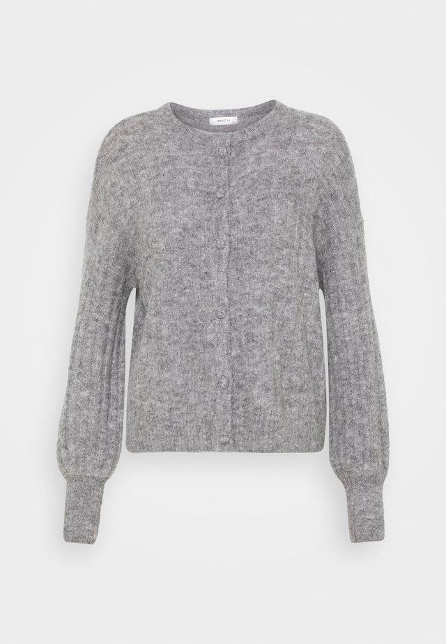 DEANNA CARDIGAN - Vest - mottled grey
