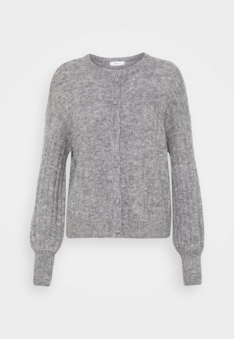 Moss Copenhagen - DEANNA CARDIGAN - Neuletakki - mottled grey