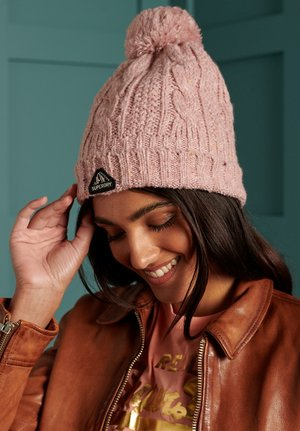 GRACIE  - Beanie - candy tweed pink