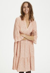 Saint Tropez - Day dress - terra cotta zig zebra - 0