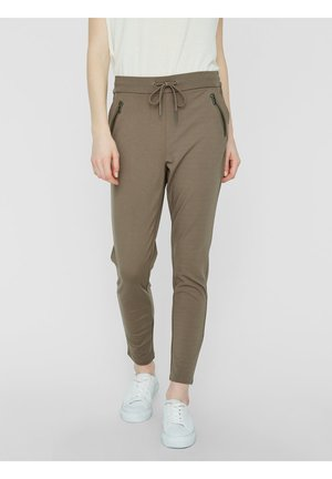 VMEVA - Tracksuit bottoms - olive/brown