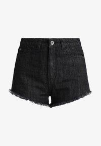 Urban Classics - LADIES HOTPANTS - Denim shorts - black washed - 5