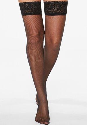 2 PACK - Calcetines por encima de la rodilla - black