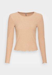 ONLY - ONLNELLA O NECK - Long sleeved top - tannin melange - 3
