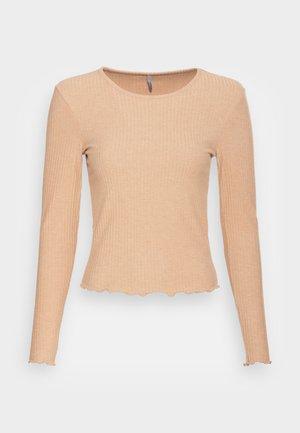 ONLNELLA O NECK - Long sleeved top - tannin melange