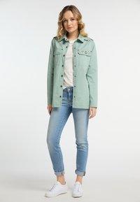 DreiMaster - Denim jacket - neo mint - 1