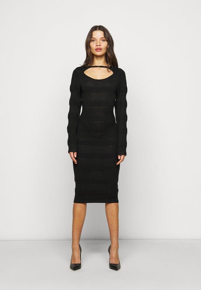 MIDI DRESS - Jumper dress - black