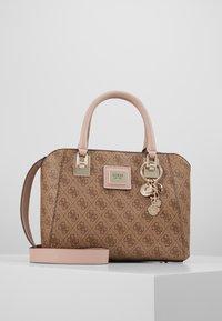 Guess - CANDACE SOCIETY SATCHEL - Handbag - brown - 0