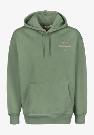 T3 RELAXD GRAPHIC - Hoodie - hedge green