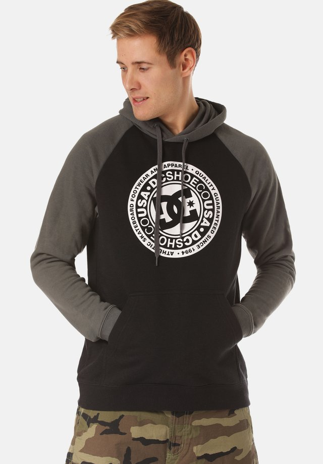 DC SHOES KAPUZENPULLOVER CIRCLE STAR - Sweat à capuche - black