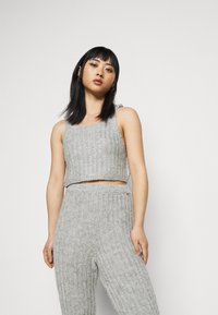 Miss Selfridge Petite - COZY SET - Top - grey - 4