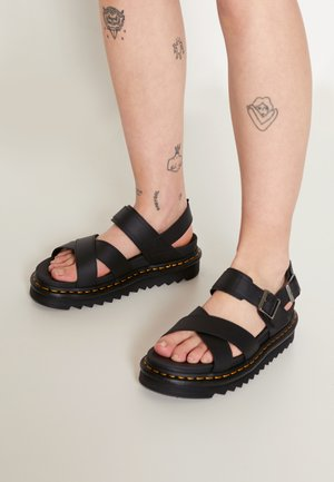 VOSS - Platform sandals - black hydro