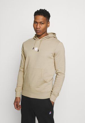 GRAPHIC HOOD - Mikina s kapucí - beige