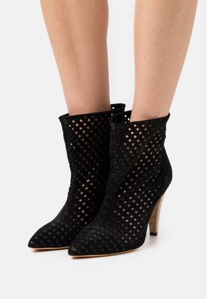 HIRSON - High heeled ankle boots - black