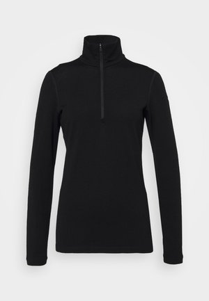 TECH HALF ZIP - Langarmshirt - black