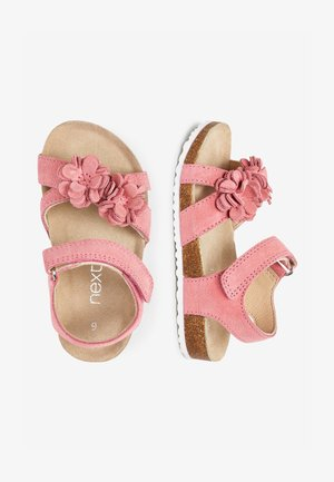 PINK CORKBED FLOWER SANDALS (YOUNGER) - Chodecké sandály - pink