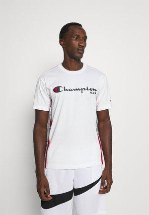 OFF COURT CREWNECK - Print T-shirt - white/navy