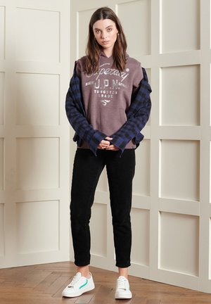 LIMITED EDITION VINTAGE SEQUIN - Sweatshirt - rich deep burgundy