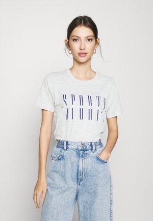 IDA TEE - Print T-shirt - grey