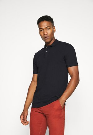 GARMENT-DYED STRETCH COTTON- PIQUE POLO - Piké - night