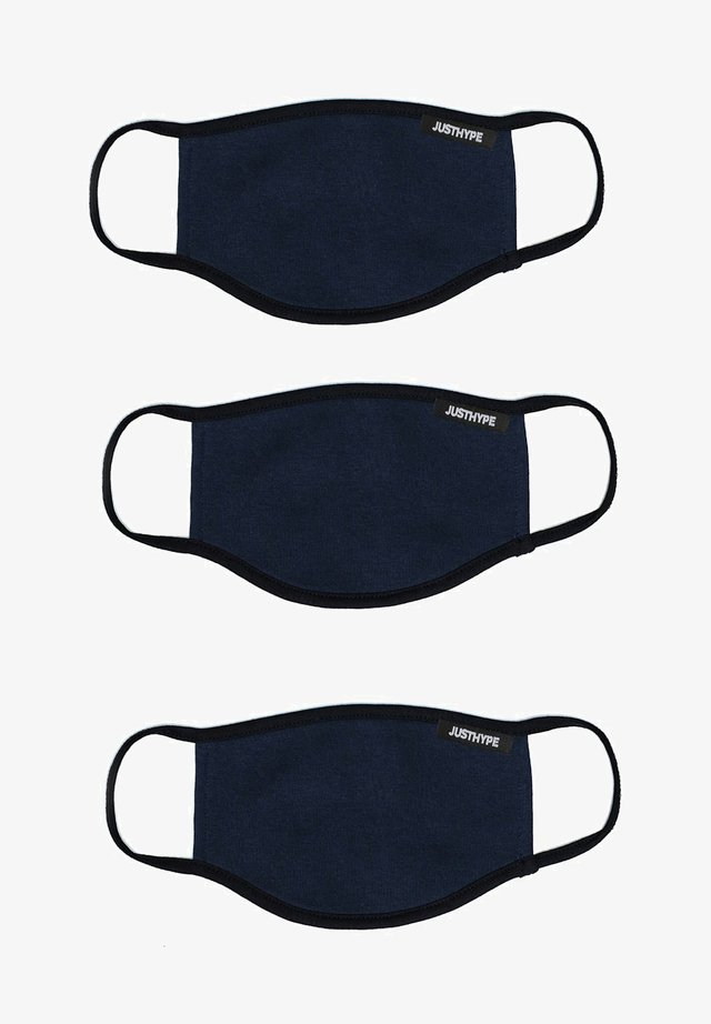 3 PACK ADULTS FACE MASK SET  - Masque en tissu - navy