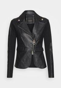 Pinko - FRANCO JACKET - Leather jacket - black - 5