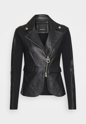 FRANCO JACKET - Lederjacke - black