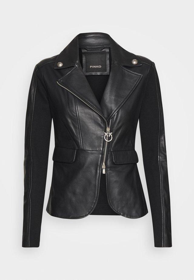 FRANCO JACKET - Veste en cuir - black