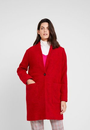 Kort kåpe / frakk - warm red