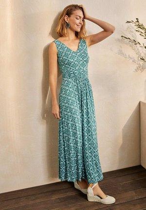 SIENNA  - Maxi dress - palmblattgrün, kunstvolles gittermuster