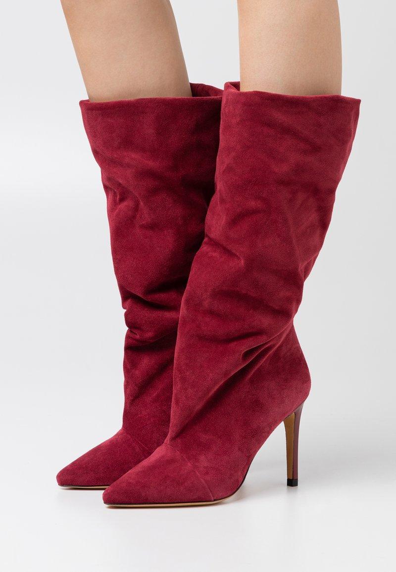 Iro - STEVIE - Laarzen met hoge hak - burgundy