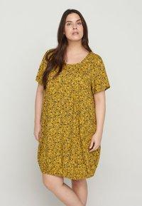 Zizzi - Day dress - yellow ditsy flower - 0