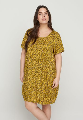 Day dress - yellow ditsy flower