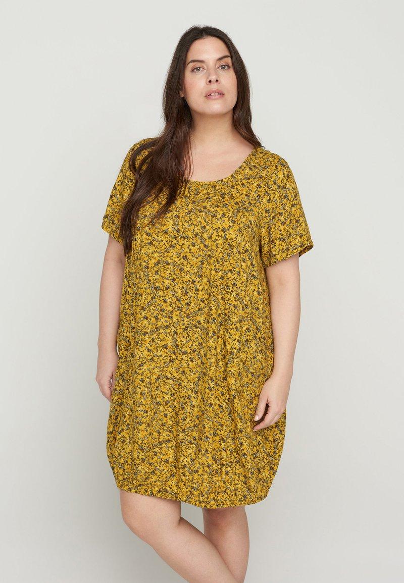 Zizzi - Day dress - yellow ditsy flower