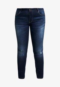 ONLY Carmakoma - CARCARMA - Jeans Skinny Fit - dark blue denim - 3