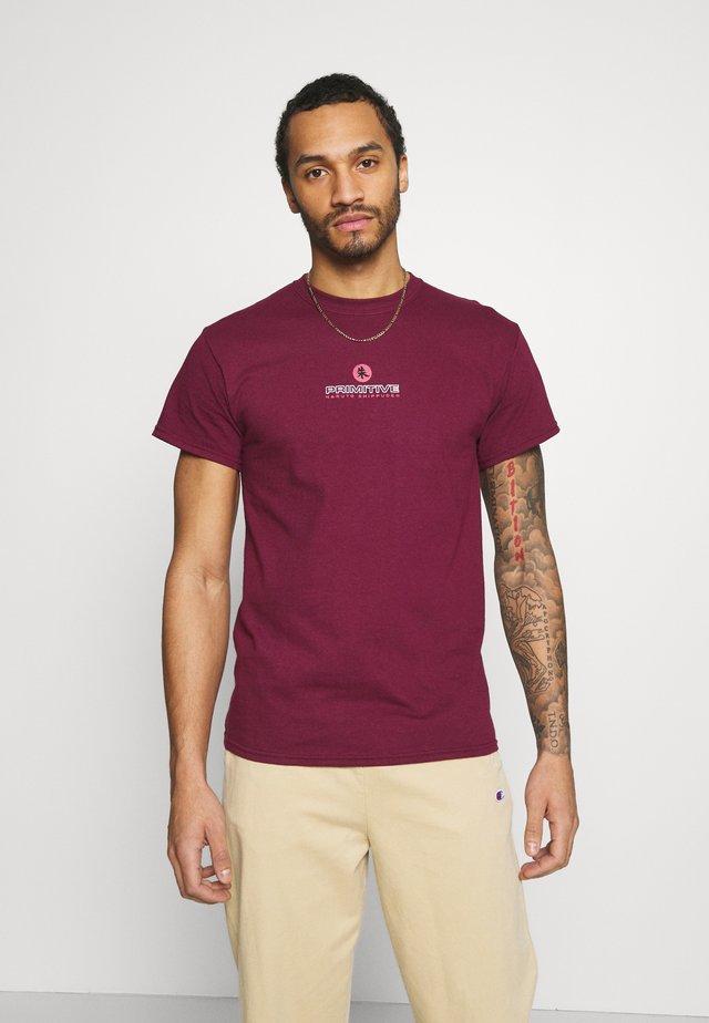 ITACHI TEE - T-shirts print - burgundy