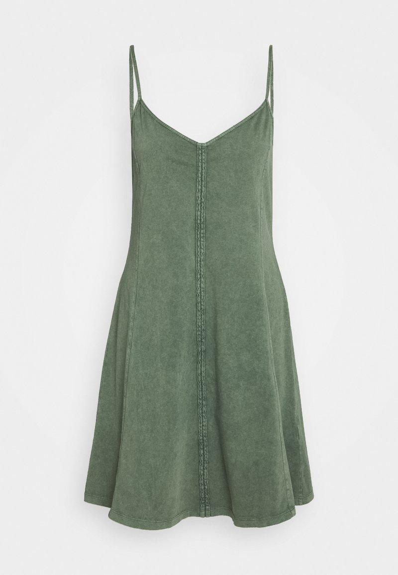 edc by Esprit - DYED ACID WASH - Vestito di maglina - khaki green